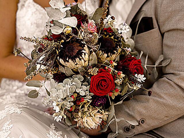 Blumenschmuck und Dekoration für Hochzeiten